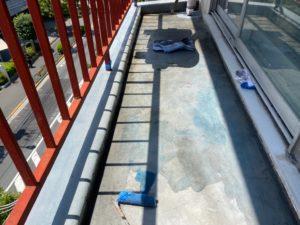 ベランダの床修理