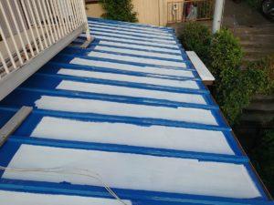 藤沢のトタン屋根塗装