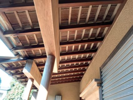 日本家屋の軒塗装